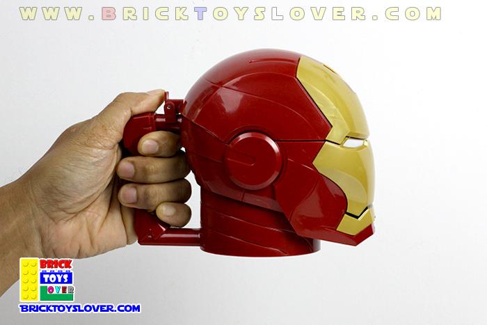 CM003 แก้วน้ำพลาสติก Avengers หมวก Helmet ของ Iron Man ขนาด 420 มิลลิลิตร
