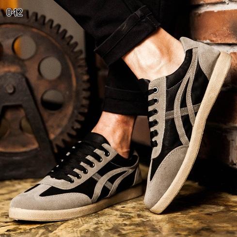 รองเท้าผ้าใบแฟชั่นผู้ชาย ทรง Sport เรียวสวย สไตล์ Onitsuka Tiger