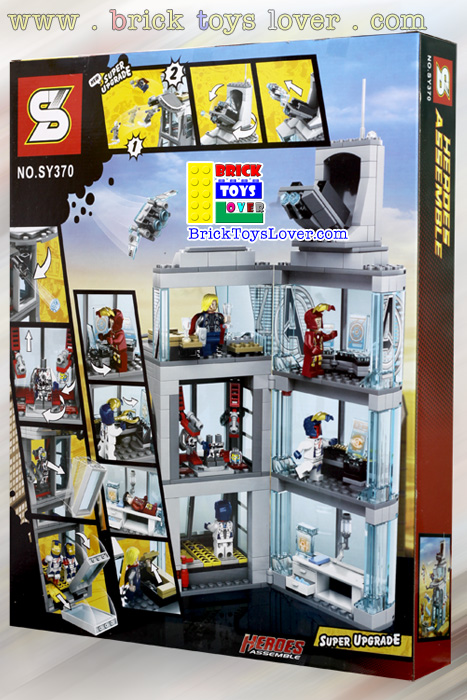 SY370 Avengers Tower Heroes Assemble มินิฟิกเกอร์ ของเล่น ตัวต่อ เลโก้จีน ราคาถูก เชียงใหม่ www.bricktoyslover.com Brick Toys Lover ตัวต่อ Mini Blocks ตัวต่อนาโน คุณภาพดี