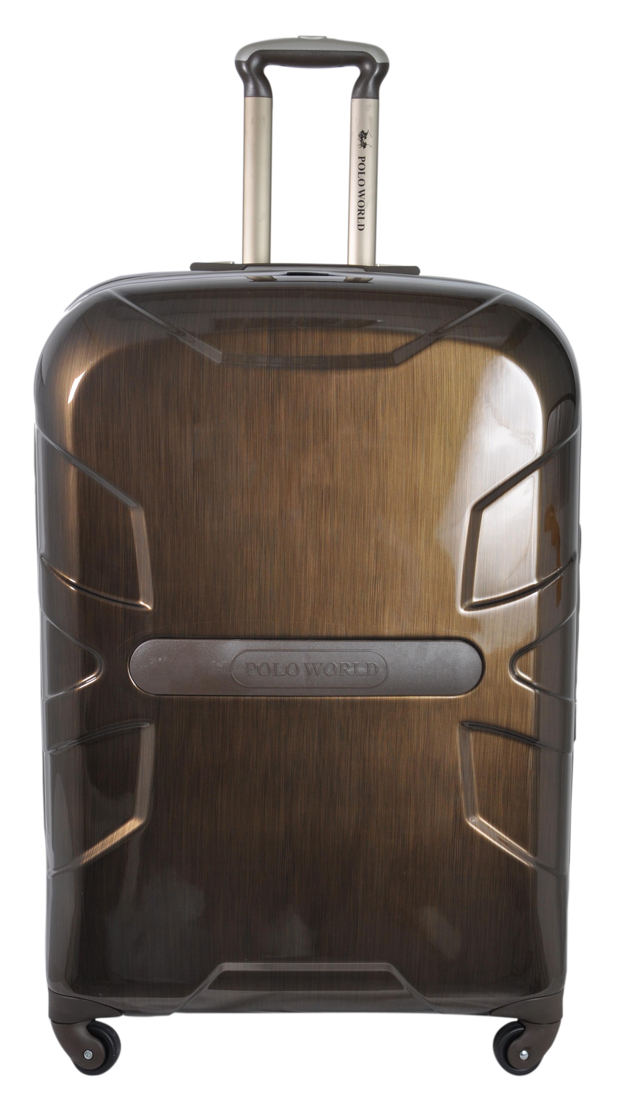 """กระเป๋าเดินทาง Polo World รุ่น PW121-TSA 28"""" (สีน้ำตาลเนื้อด้าน)"""
