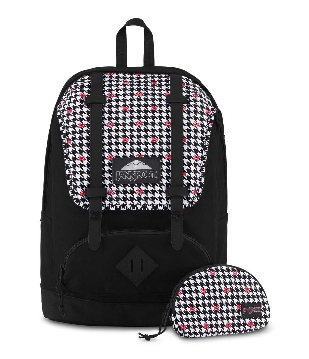 JanSport กระเป๋าเป้ รุ่น Baughman - Disney Minnie White Houndstooth