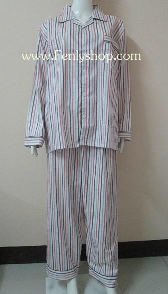 ชุดนอน(ช)กก.ขายาวแขนยาว ผ้า Cotton เกรด เอ แบบลาย คอปก ขนาดไซส์ XXL