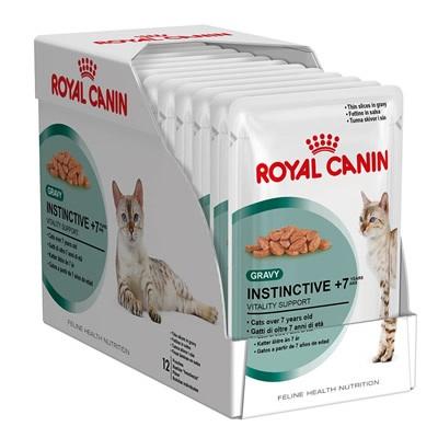 อาหารแมวแบบเปียก Royal Canin Instinctive +7 สามโหล1220รวมส่ง
