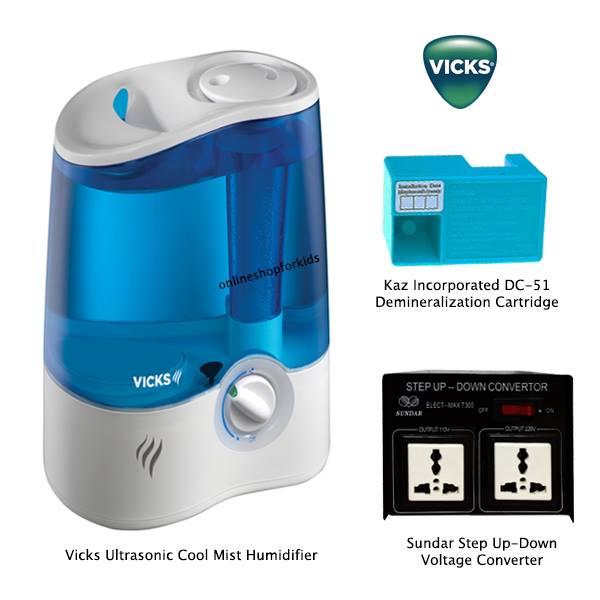 (มือสอง) เครื่องพ่นวิคส์ ไอระเหย แบบเย็น Vicks UltraQuiet Cool Mist Humidifier, V5100NS