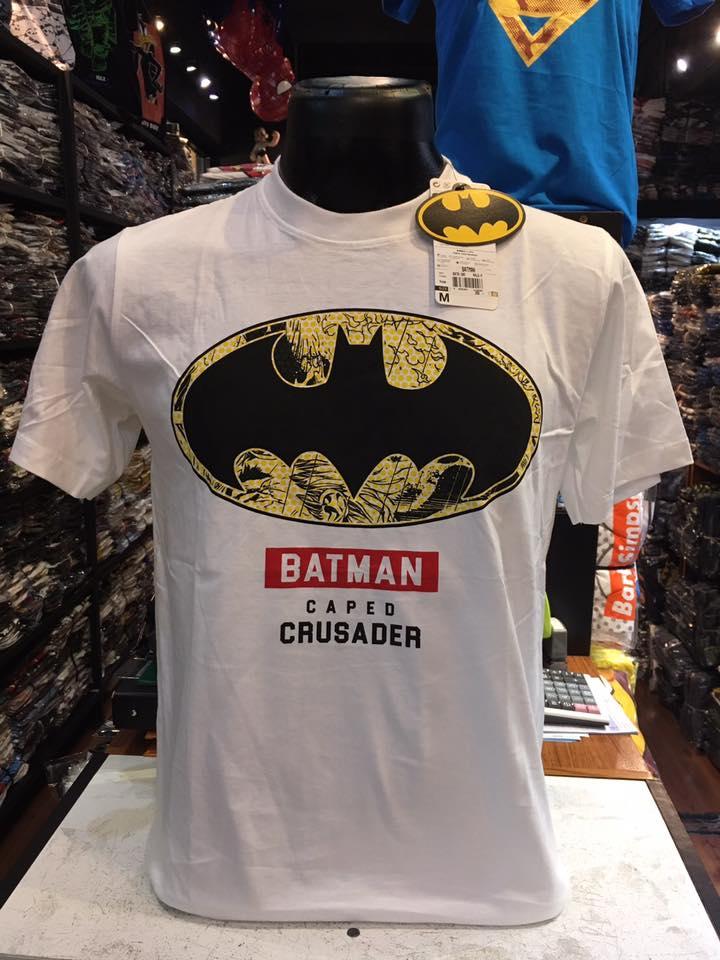 แบทแมน สีขาว (Batman white yellow logo CRUSADER)