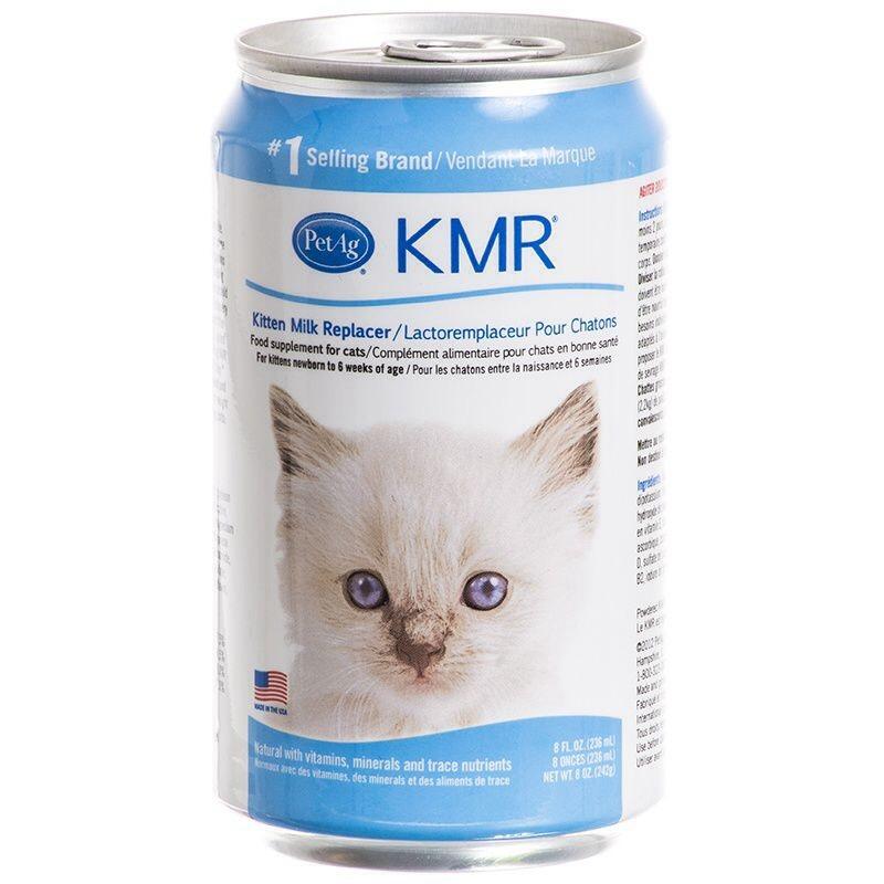 Kmr kitten milk replacer เครื่องดื่มแทนนมสำหรับลูกแมว แบบดื่ม 242กรัม สามกระป๋อง 830รวมส่ง
