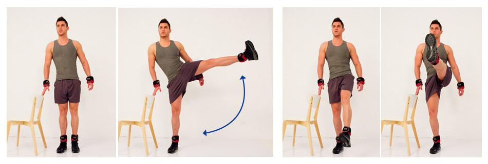 ท่าการออกกำลังกาย โดยใช้ชุดถ่วงเอนกประสงค์กับเก้าอี้
