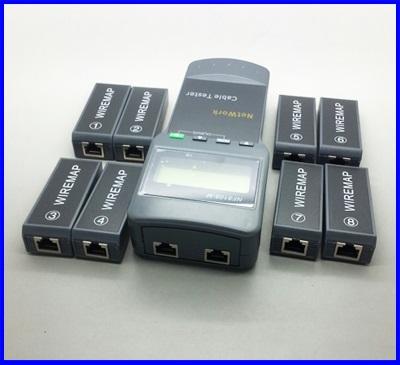 เครื่องมือตรวจสายสายแลน ตรวจสอบสายระบบเน็ตเวิร์ค Digital Network LAN Cable Coaxial Telephone Line Wire Length Tester 5E, 6E