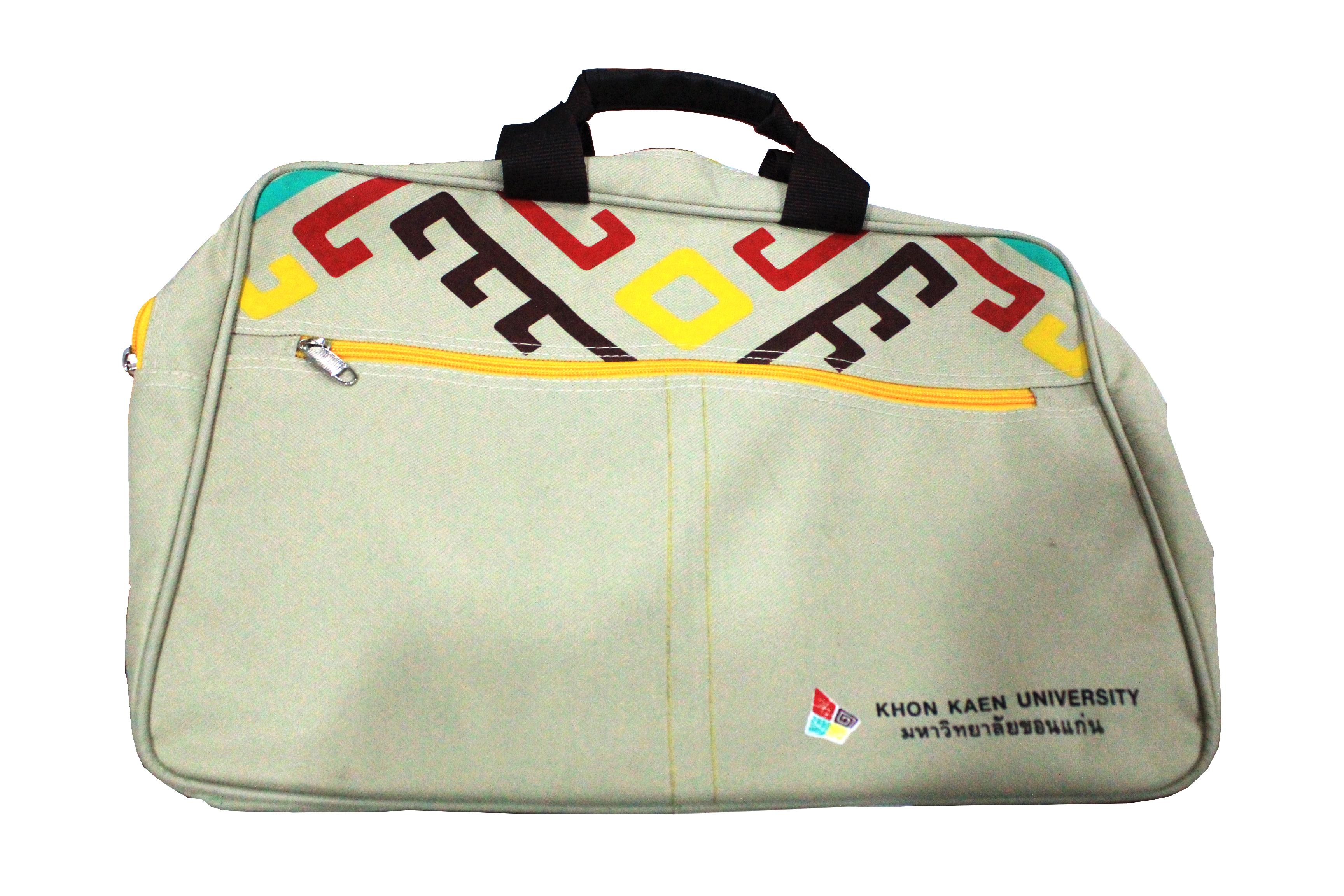 กระเป๋าผ้าสีครีม