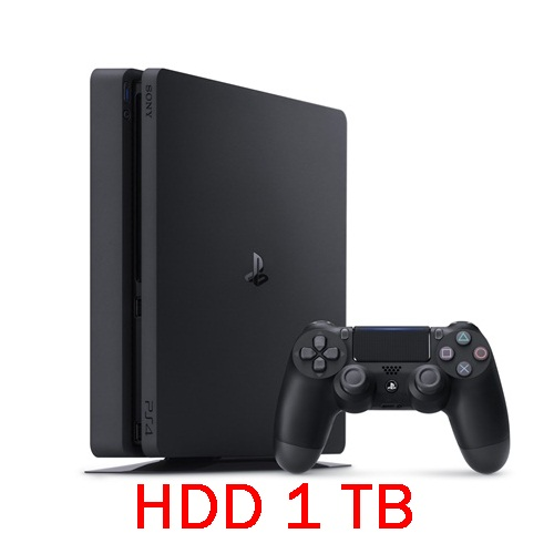 PS4: Console Slim 1TB - Jet Black (ประกันศูนย์ไทย) [ส่งฟรี EMS]