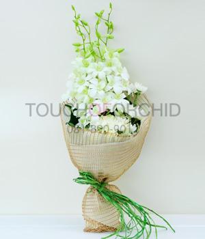 ช่อดอกไม้ Premium White รหัส 1044