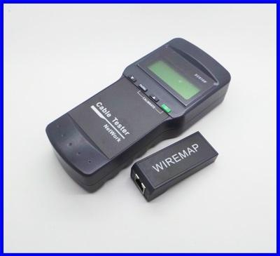 เครื่องทดสอบสายเคเบิลเครือข่าย 5E, 6E, STP / UTP RJ45 สายเคเบิลเครือข่ายคู่สายและสายโทรศัพท์ Network Cable Tester SC8108