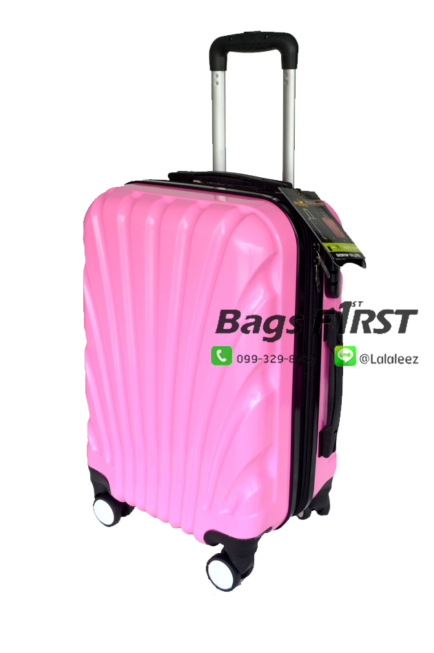 """กระเป๋าเดินทางล้อลาก เนื้อ PC สีชมพู ขนาด 28 """""""