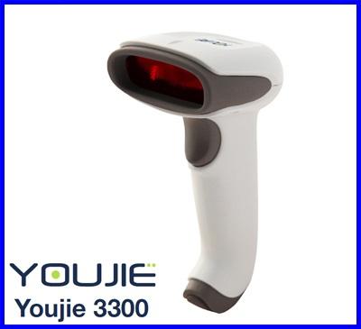 บาร์โค้ด สแกนเนอร์ เครื่องอ่านบาร์โค้ด เครื่องยิงบาร์โค้ด Honeywell Youjie 3300 Hand Held Laser Barcode Scanner ไม่รวมขาตั้ง