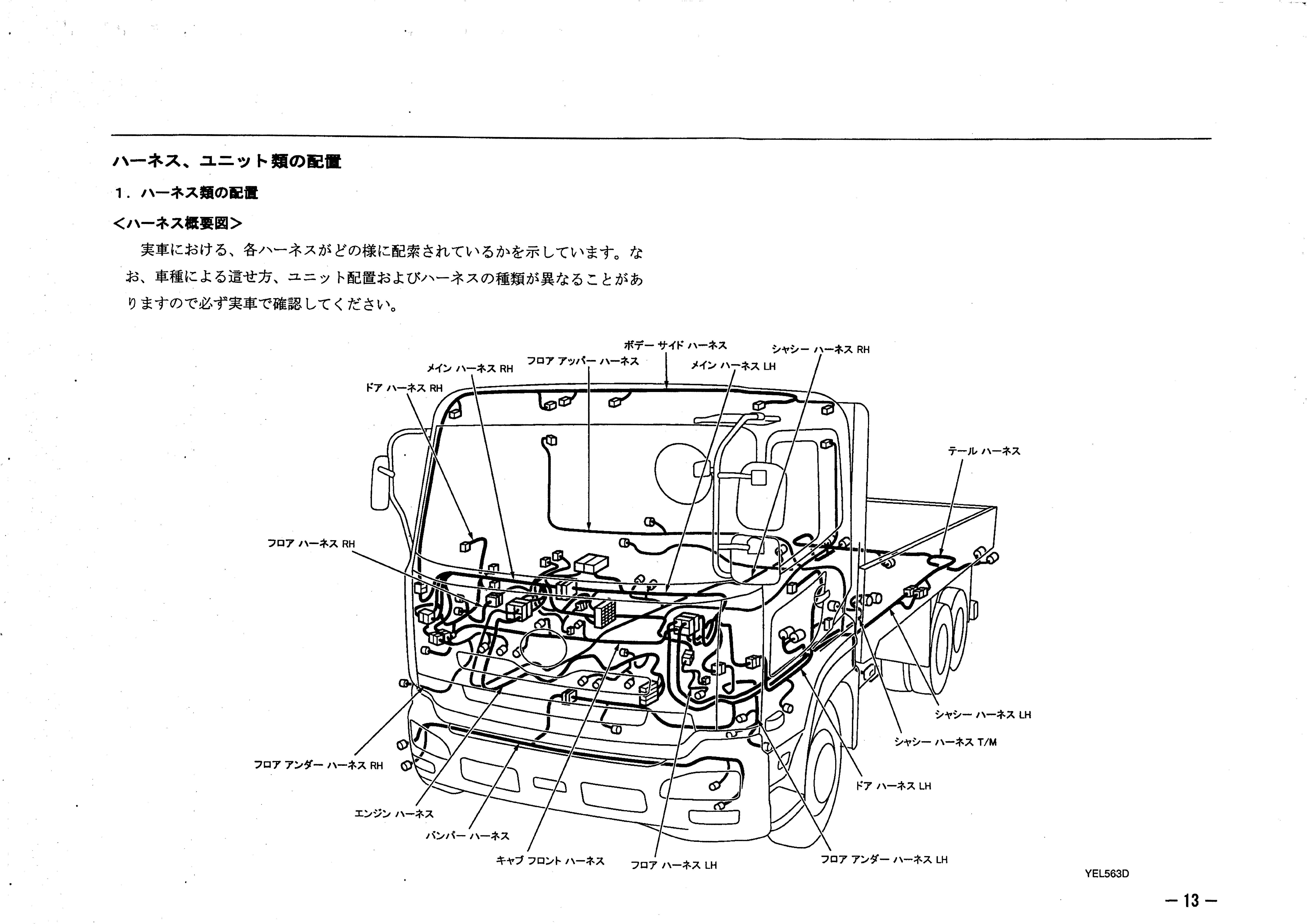 หนังสือ วงจรไฟฟ้า รถบรรทุก NISSAN UD GE13 :CF, CZ MD92 ทั้งคัน