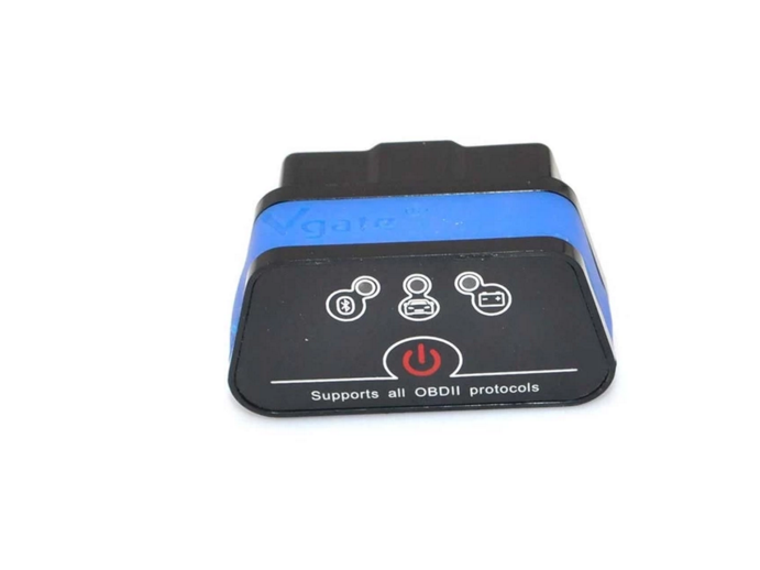 VGATE iCar2 ELM327 OBD2 Bluetooth Car Diagnostic Scan Tool (Black/Blue)