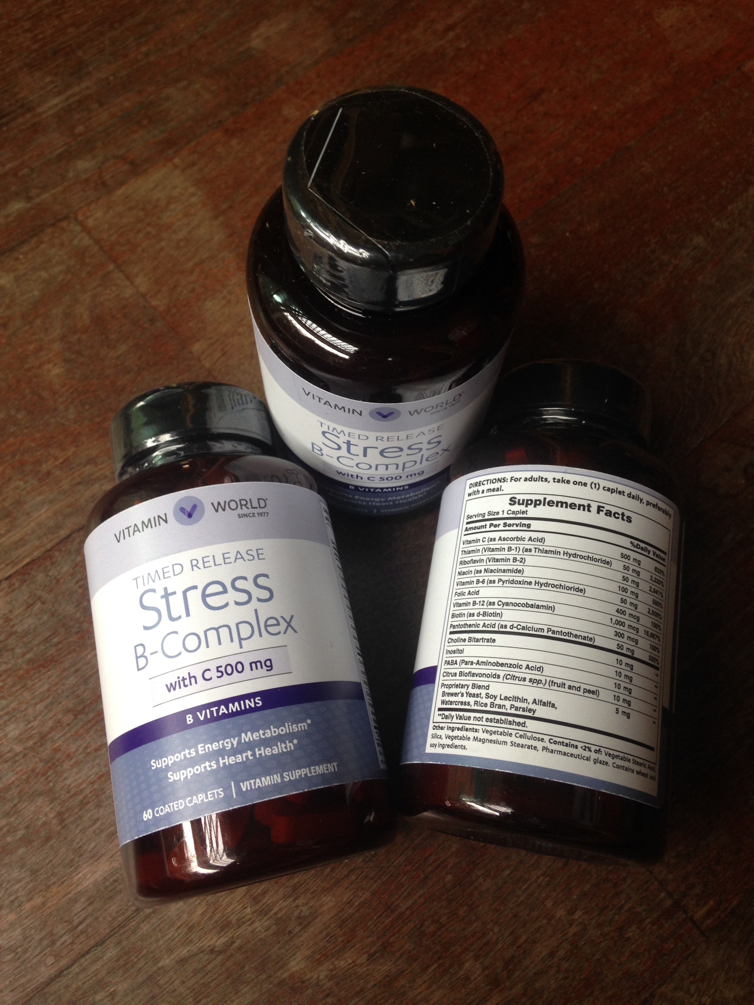 Vitamin World Stress B-Complex Time release with C 500 mg 60 เม็ด