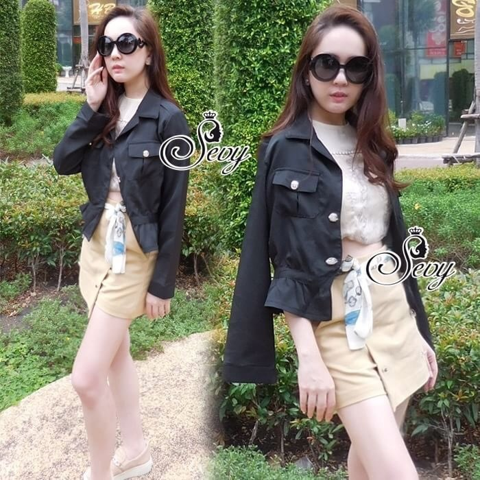 Smart Casual Long Sleeve High Waist Jacket