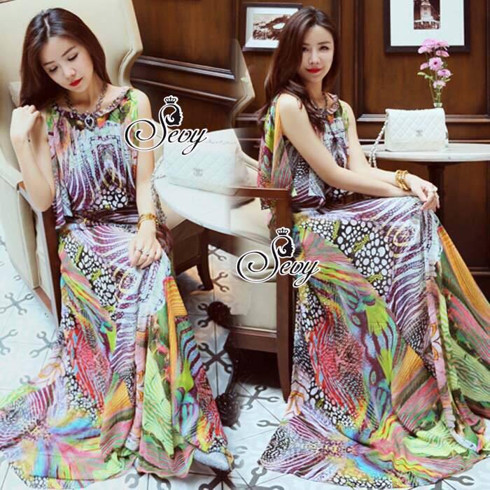 Classy Colorful Bohemian Maxi Dress