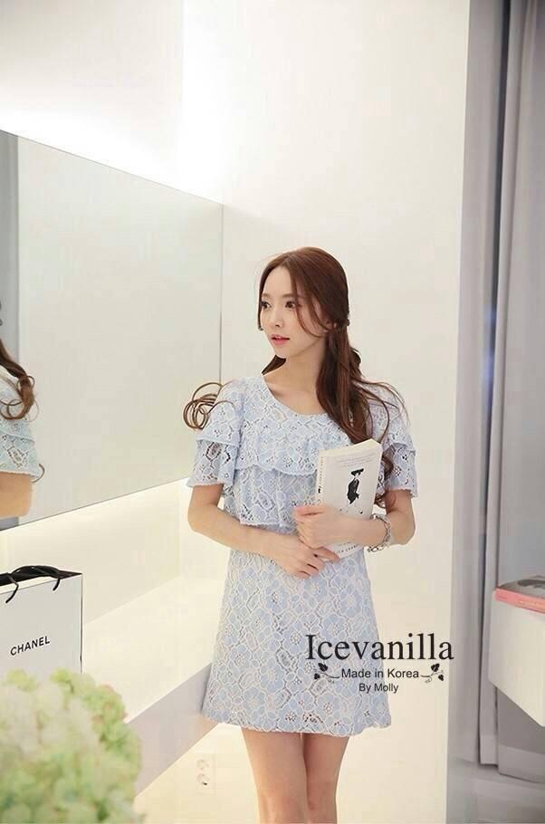 Feminine fragrant 3 D lace korea
