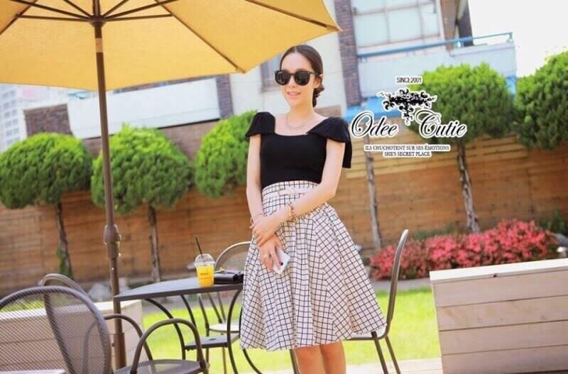 Voluminous Square Flare Skirt Set