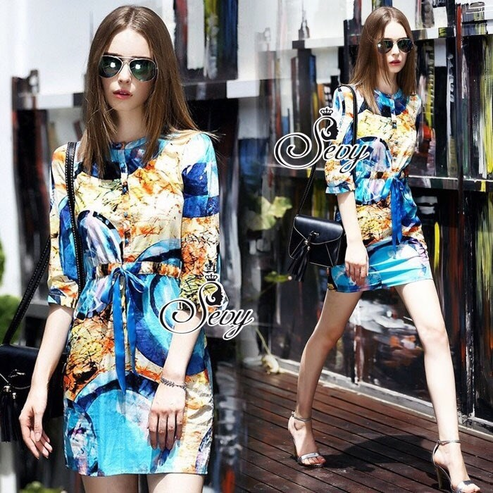 Sevy Orchid Vest Shirt Style Mini Dress
