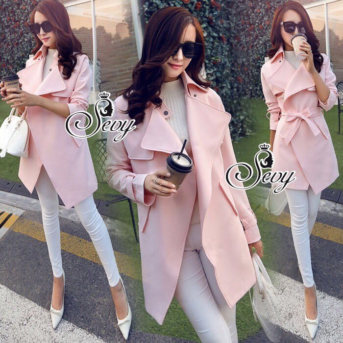 Sevy Smart Casual Korean Style Over Coat