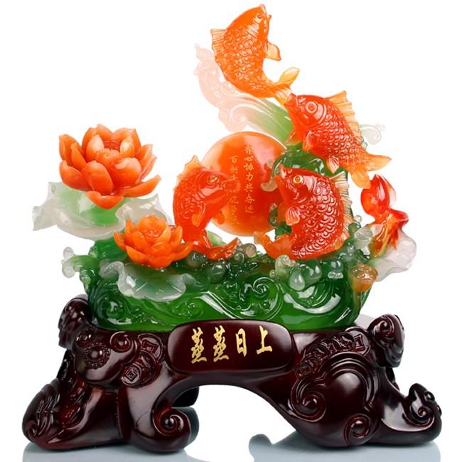 ปลาหลีฮื้อทะยานใบบัว ค้าขายร่ำรวย มีโชคมีลาภ เหลือกินเหลือใช้