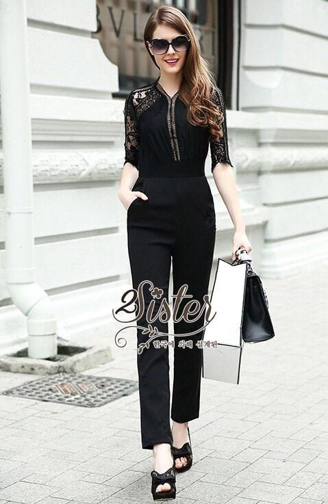 Black&Dark Luxury Jumpsuit Style Mdame Sindy