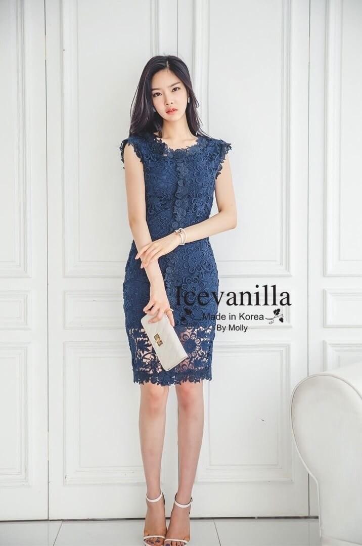 Luxury eyelet lace Dress