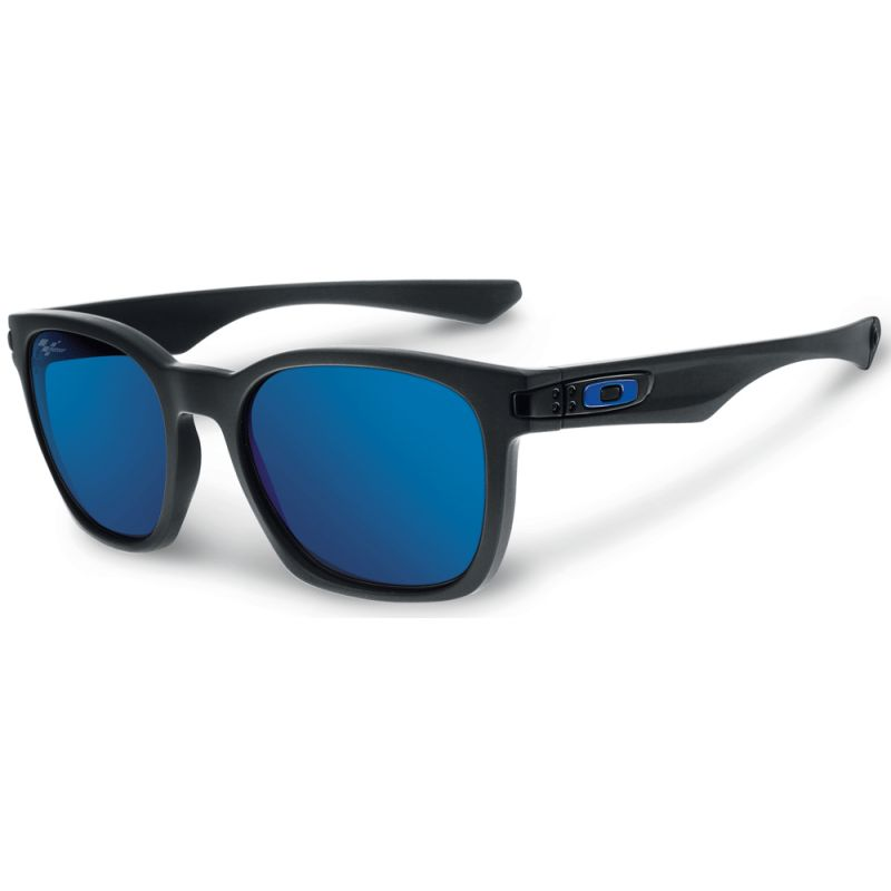 Oakley Garage Rock Moto GP Collection - Polished Black / Ice Iridium Polarized Lens