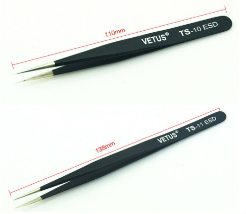 ESD-10 Switzerland VETUS Tweezers ESD Precision
