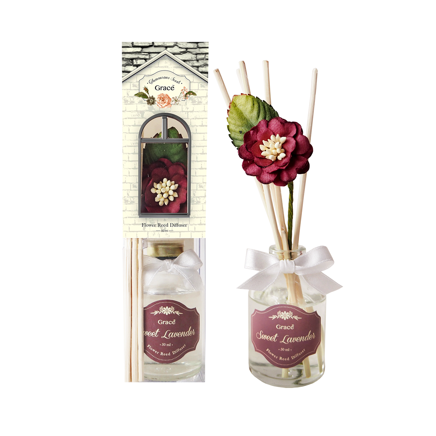 Reed Diffuser 50 ml (Small) - Sweet Lavender