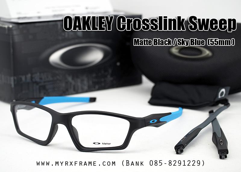 OAKLEY CROSSLINK SWEEP 55mm (SATIN BLACK / SKY BLUE)