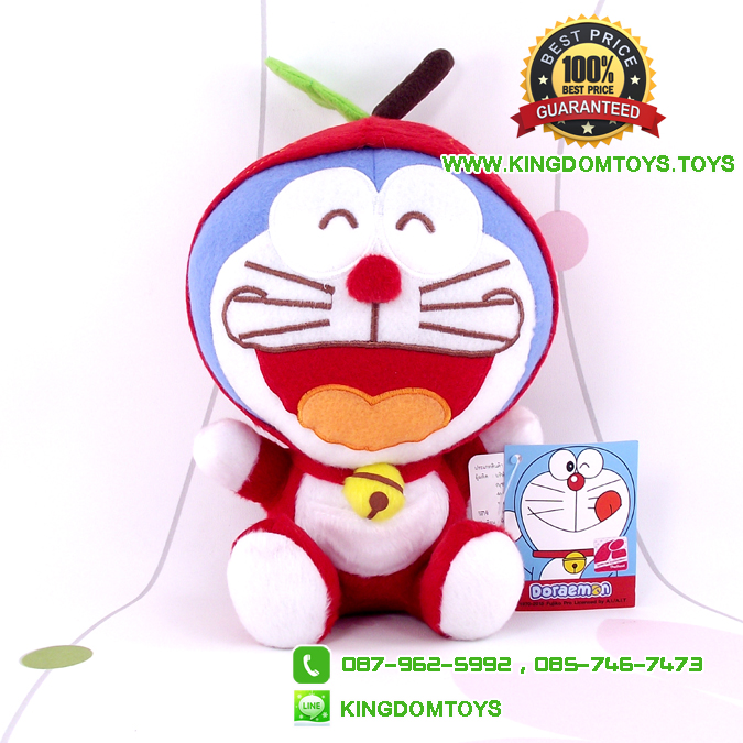 ตุ๊กตา โดเรม่อน ชุดแอ๊ปเปิ้ล 7 นิ้ว [Fujiko Pro]