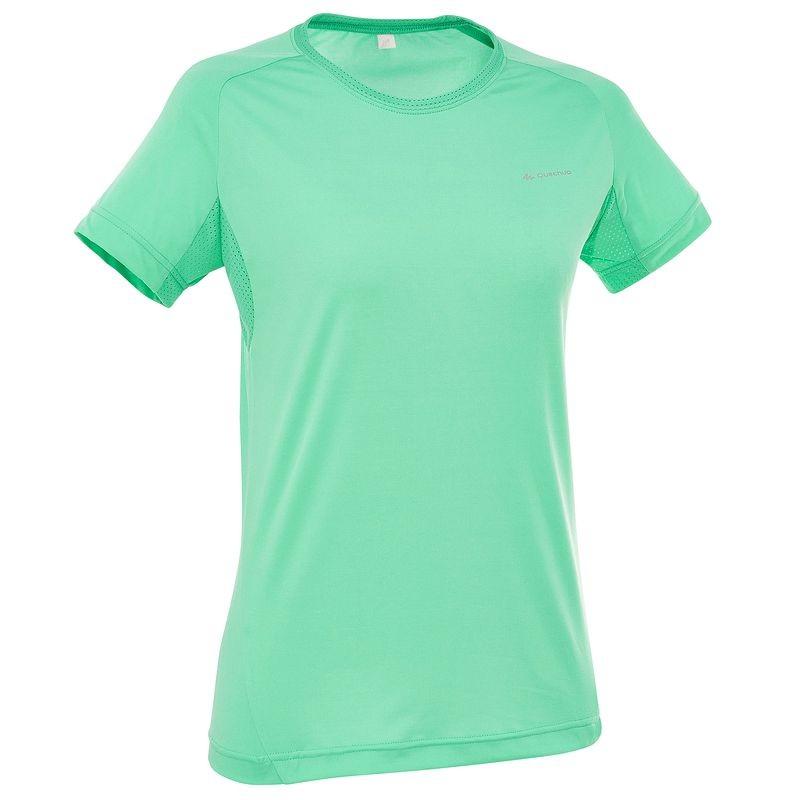 Quechua T-Shirt เดินป่า สำหรับผู้หญิง - Green
