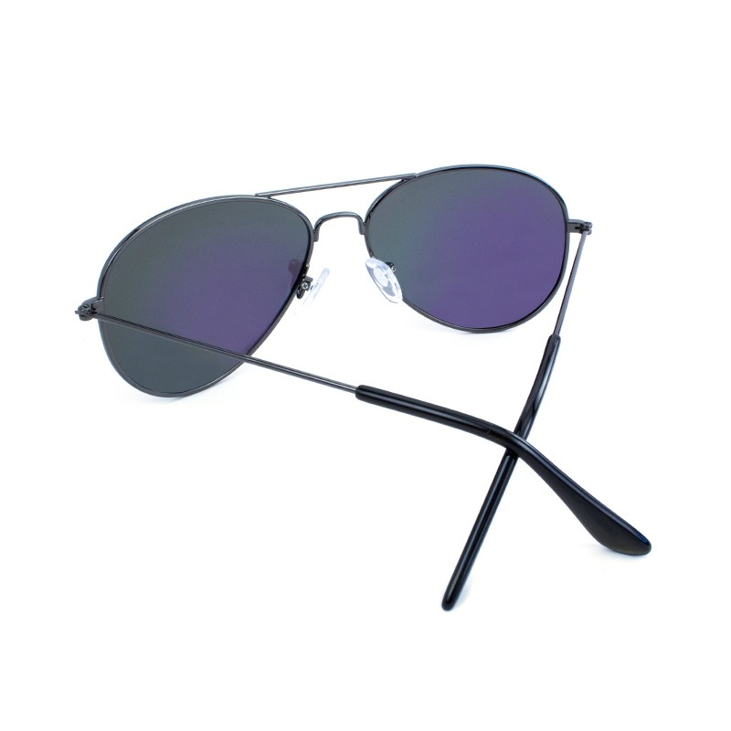 แว่น Knockaround Mile Highs Sunglasses - Gunmetal / Polarized Green Moonshine