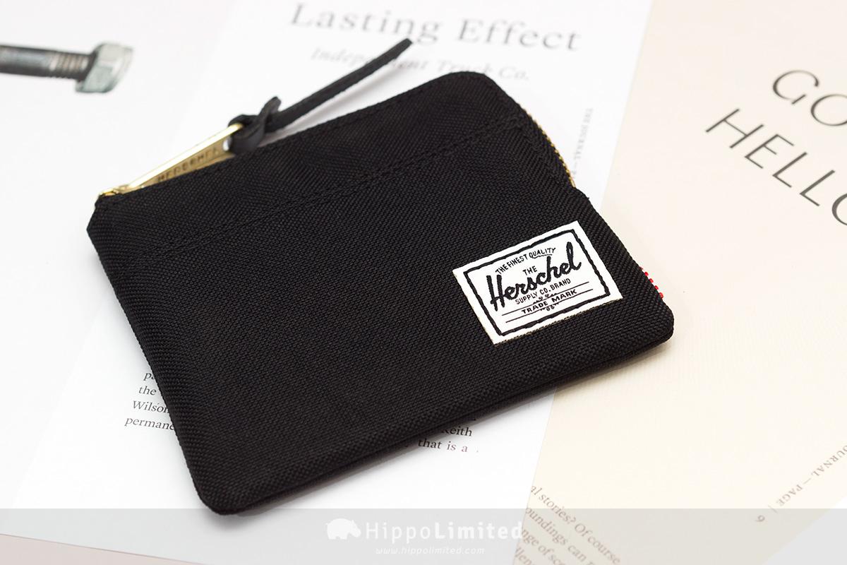 กระเป๋าเหรียญ Herschel Johnny Wallet - Black ด้านหน้าเต็มใบ