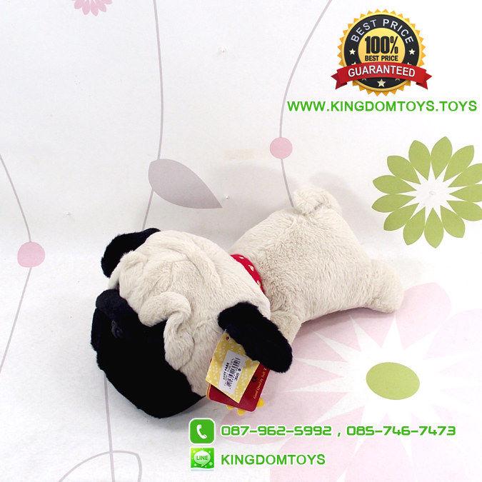 ตุ๊กตา น้องหมาปั๊ก Pug ท่าหมอบ 12 นิ้ว [Anee Park]