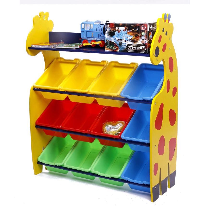 Giraffe Keeping Toy ชั้นวางของเล่น รูปยีราฟ 4 ชั้น กระบะเล็ก 12 ใบ