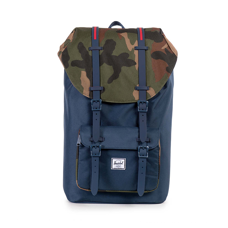 Herschel Little America - Navy/Woodland Camo/Red Insert