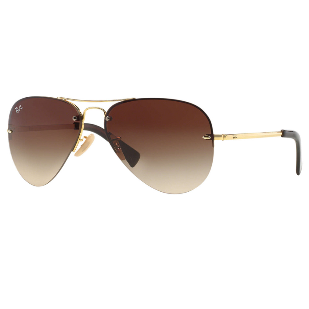 Rayban Aviator Rimless RB3449 001/13 (59mm) Brown Gradient