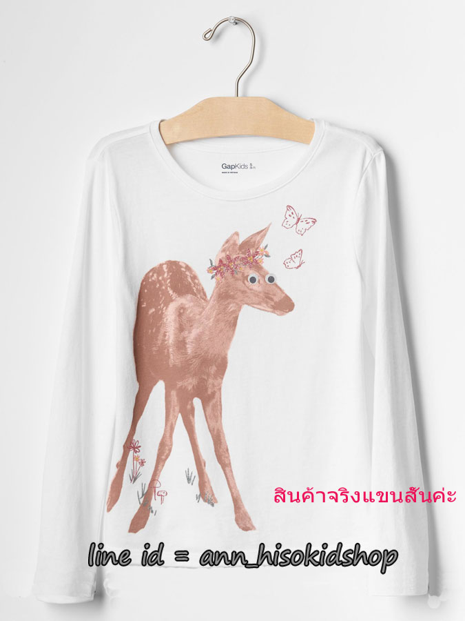 1845 Gap Kids T-Shirt - White ขนาด 14-16 ปี