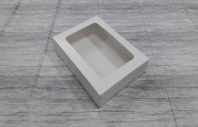 กล่องขนม กล่องบราวนี่ ขนาด 20 x 14.5 x 4 ซม.กล่องทาร์ตไข่ สีขาว (20 ใบต่อแพ็ค)