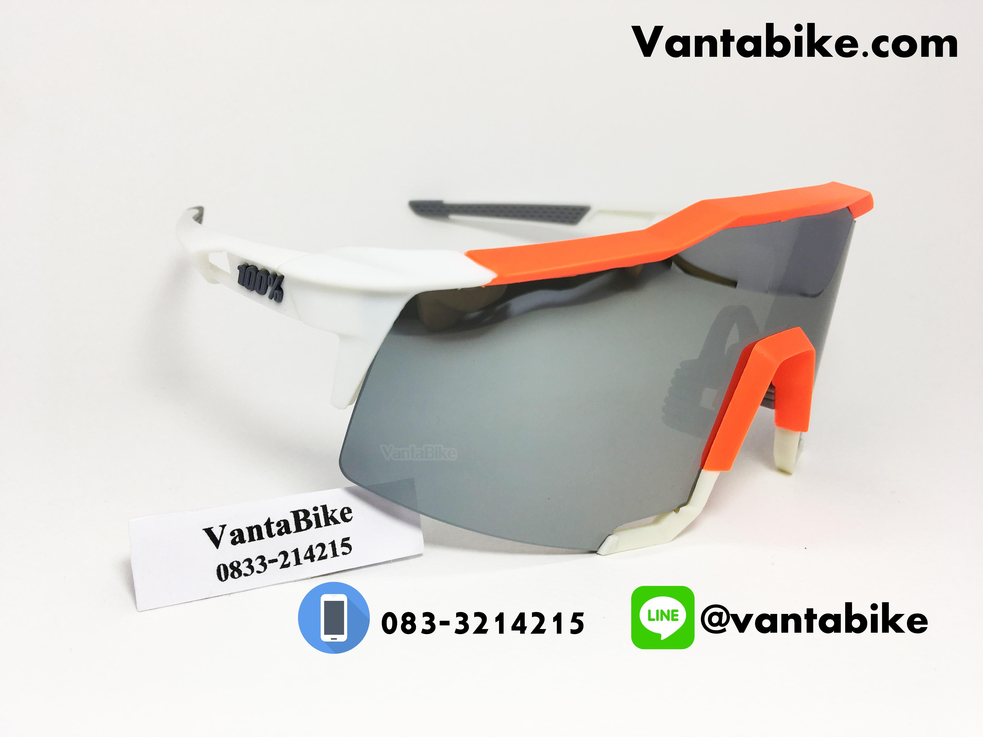 แว่นตาปั่นจักรยาน SPEEDCRAFT 100% [สีส้ม-ขาว]