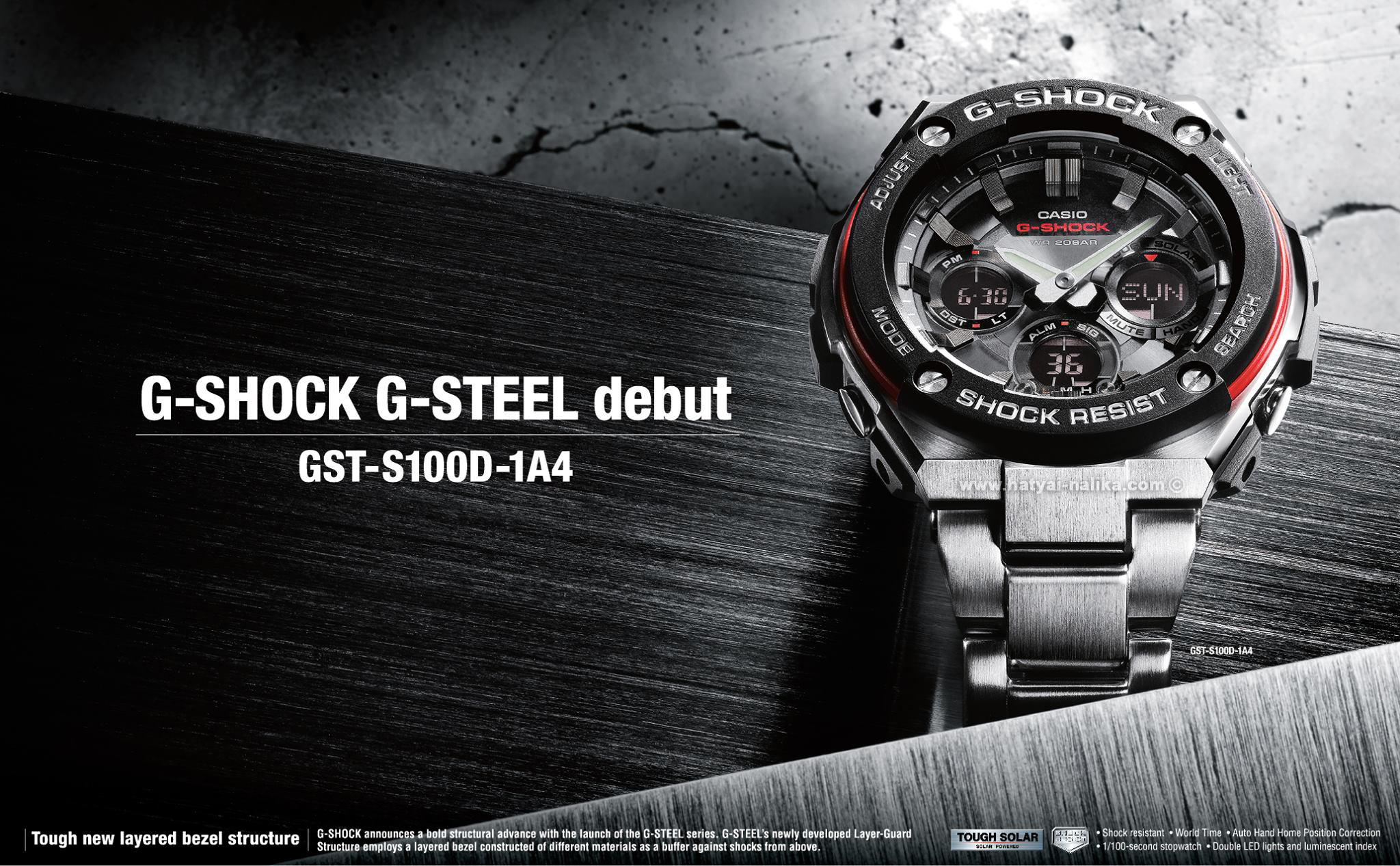 G Shock Steel 1 Ems Casio Gst 200cp 2a