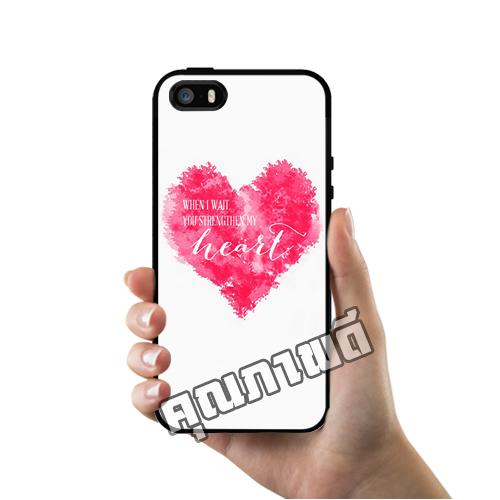 เคส iPhone 5 5s SE หัวใจสีชมพู เคสสวย เคสโทรศัพท์ #1153