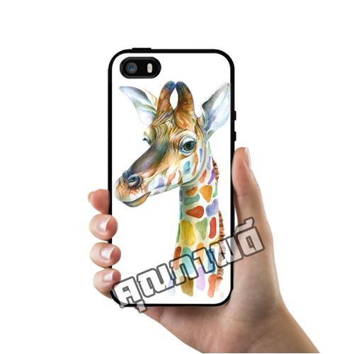 เคส iPhone 5 5s SE โลโก้ ยีราฟอาร์ทๆ เคสสวย เคสโทรศัพท์ #1111