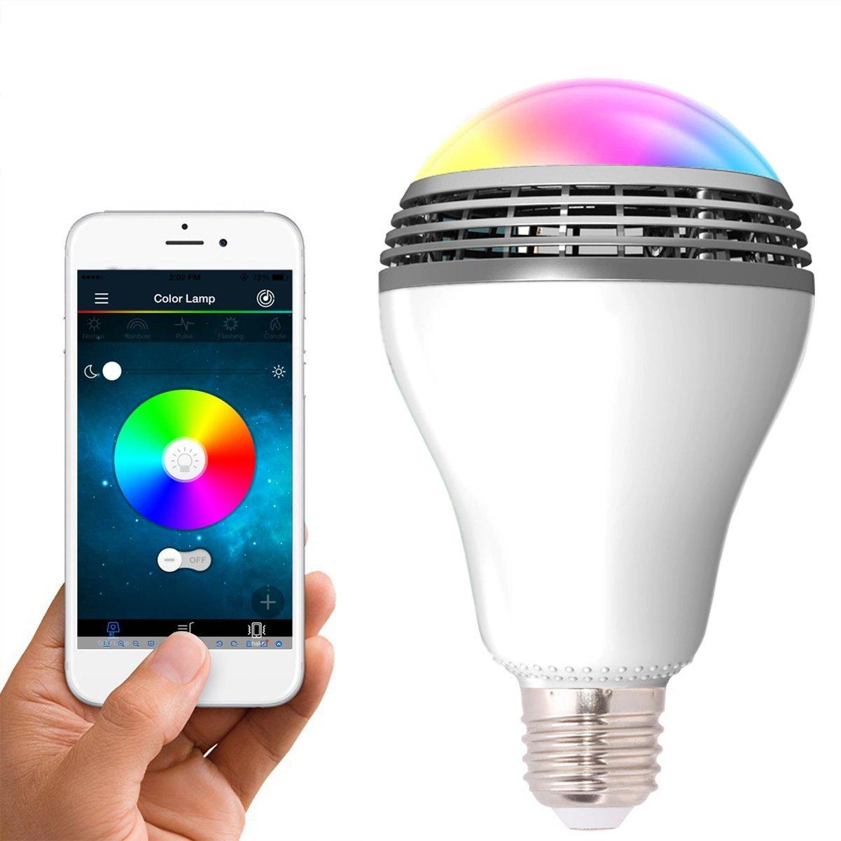 หลอดไฟ LED อัจฉริยะ เปลี่ยนสีได้ ฟังเพลงได้ เชื่อมต่อผ่าน bluetooth สั่งงานผ่านโทรศัพท์มือถือ