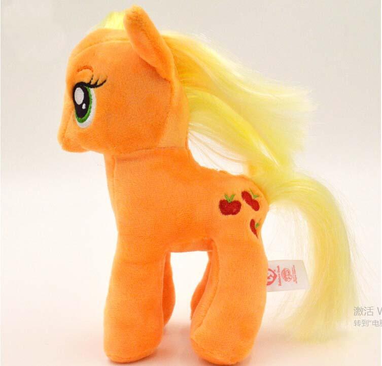 ตุ๊กตาม้าโพนี่สีส้ม รุ่นเส้นผมถักเปียได้ ขนาดวัดจากเท้า-หัว18cm line:stevie_b